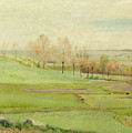 Spring Landscape With Light Green Fields by Laurits Andersen Ring