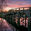 Spring Sunset At The Old North Bridge by Kristen Wilkinson