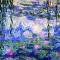 Spring Water Lilies After Monet Abstract Realism by Isabella Howard