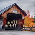 Squam River Covered Bridge In October by Jeff Folger