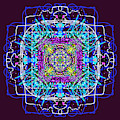 Square Abstract Mandala by Catherine Lott