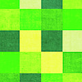 Squares Green - Vertical by Peter Tellone