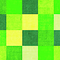 Squares Green - Horizontal by Peter Tellone