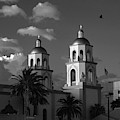 St. Augustine Cathedral Black And White by Chance Kafka