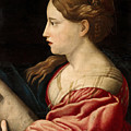 St Barbara  by Parmigianino  after