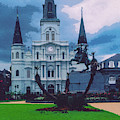 St. Louis Cathedral 4 by Bob Phillips