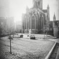 St Nicholas Church Ghent Belgium Black And White by Carol Japp