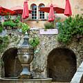St Paul De Vence Fountain by Brian Jannsen