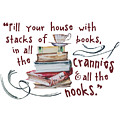 Stacks Of Books by Heather Applegate