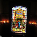 Stained Glass At Moody Mansion by Pamula Reeves-Barker