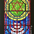 Star Of David Stained Glass by Gary Springer