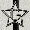 Star Of The Show Art Deco Style Letter G by Cecely Bloom
