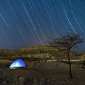 Star Trails Over Timna Valley by Dubi Roman