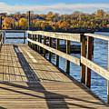 Staring Lake Dock by Susan Rydberg