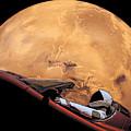 Starman In Orbit Around Mars by Filip Hellman