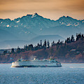State Ferry And The Olympics by Inge Johnsson