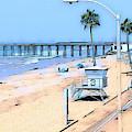 Station 3 Oceanside California by Tammera Malicki-Wong