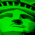 Statue Of Liberty In Green by Rob Hans