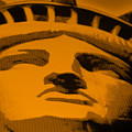 Statue Of Liberty In Orange by Rob Hans
