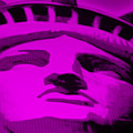 Statue Of Liberty In Purple by Rob Hans