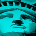Statue Of Liberty In Turquois by Rob Hans