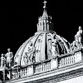 Statues On Saint Peter's Basilica In Vatican City by John Rizzuto