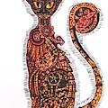 Steam Punk Cat by Janine Messenger