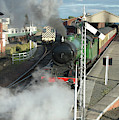 Steam Train Leaving Station by Victor Lord Denovan