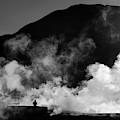 Steaming Solitude El Tatio Geysers Chile by James Brunker