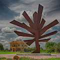 Steel Palm - Peace River Botanical And Sculpture Gardens by Mitch Spence