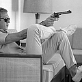 Steve Mcqueen Takes Aim by John Dominis