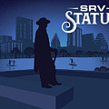 Stevie Ray Vaughan Memorial Statue  by Austin Welcome Center