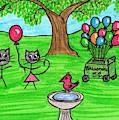 Stick Cats #7 by Tambra Wilcox