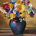 Still Life Blue Vase by David Lloyd Glover