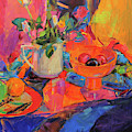 Still Life With Bloomingdales Bowl by Peter Graham