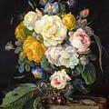 Still Life With Peonies  by Cornelis de Heem