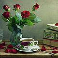 Still Life With Red Roses by Copyright Anna Nemoy(xaomena)