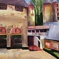 Stone Barns Courtyard by Lynne Bolwell