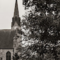 Stone Chapel - Black And White by Allin Sorenson