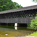 Stone Mountain Covered Bridge Panorama View by Jerry Griffin