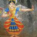 Stone Painting Of Nautch Dancing Gir by Steve Estvanik