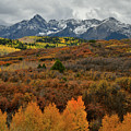 Storm And Fall Colors Over Dallas Divide by Ray Mathis