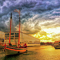 Storm Approaching Schooner Fame by Jeff Folger