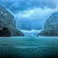 Storm Clouds Invade Ha Long Bay Blue Rain  by Chuck Kuhn