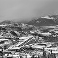Storm Clouds Over The Aspen Airport Black And White by Adam Jewell