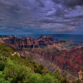 Storm Over The North Rim Grand Canyon National Park Arizona by Dave Welling