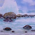 Stormy Shore On Nisyros Greece by Sabina Von Arx
