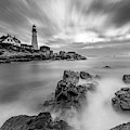 Stormy Skies At Portland Head Light by Jesse MacDonald