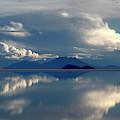 Stormy Skies Over The Salar De Uyuni Bolivia by James Brunker