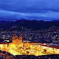 Stormy Twilight View Over Cusco Peru by James Brunker